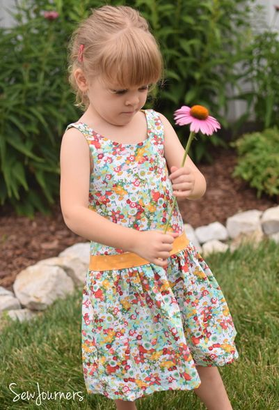 Beautiful, easy and modern child sewing PDF patterns Hailey\'s Drop ...