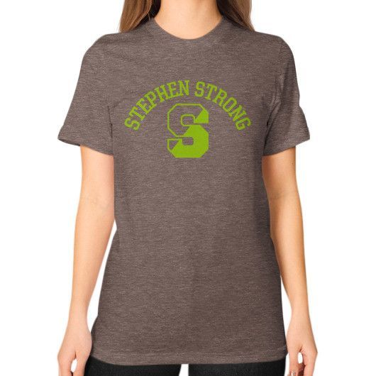 Stephen Strong Unisex T-Shirt (on woman)