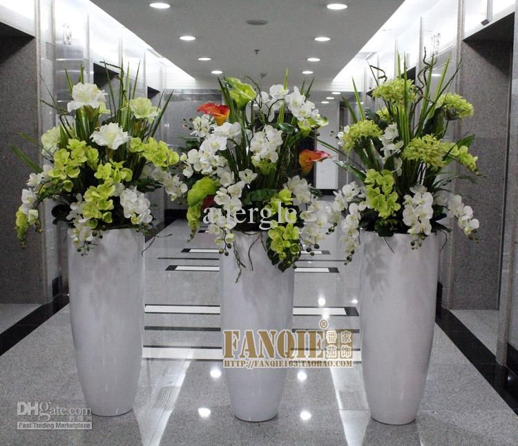 Large Floor Vase Set Modern Brief Fashion Decoration Set Flowers