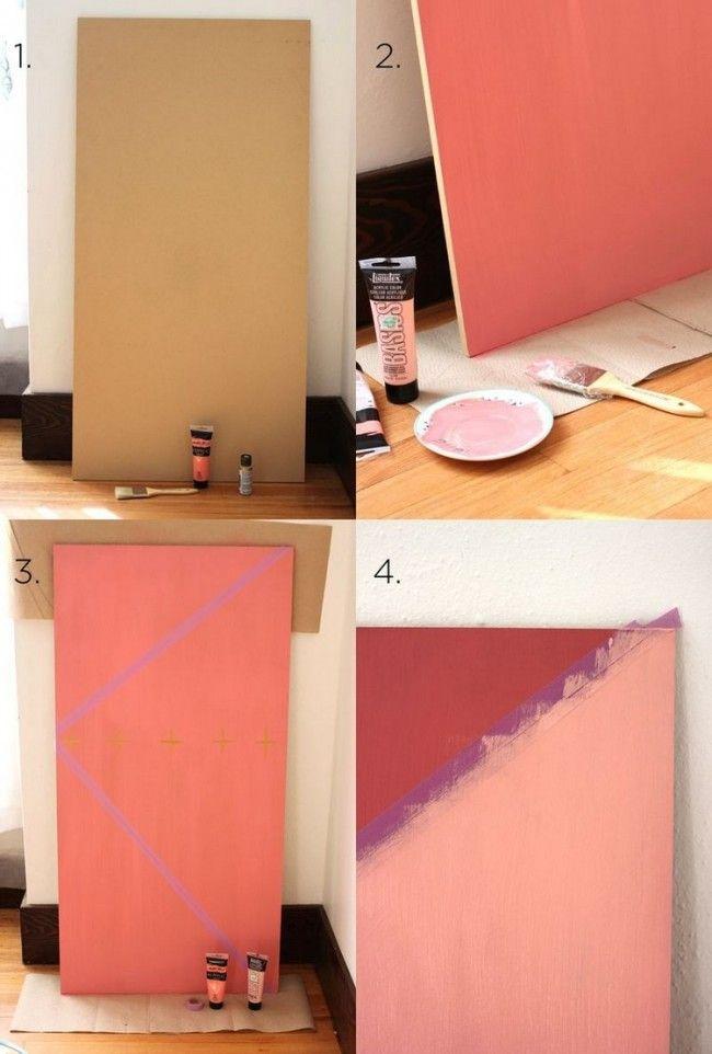 MDF Platte in zwei Rosatönen streichen | Home office | Pinterest ...