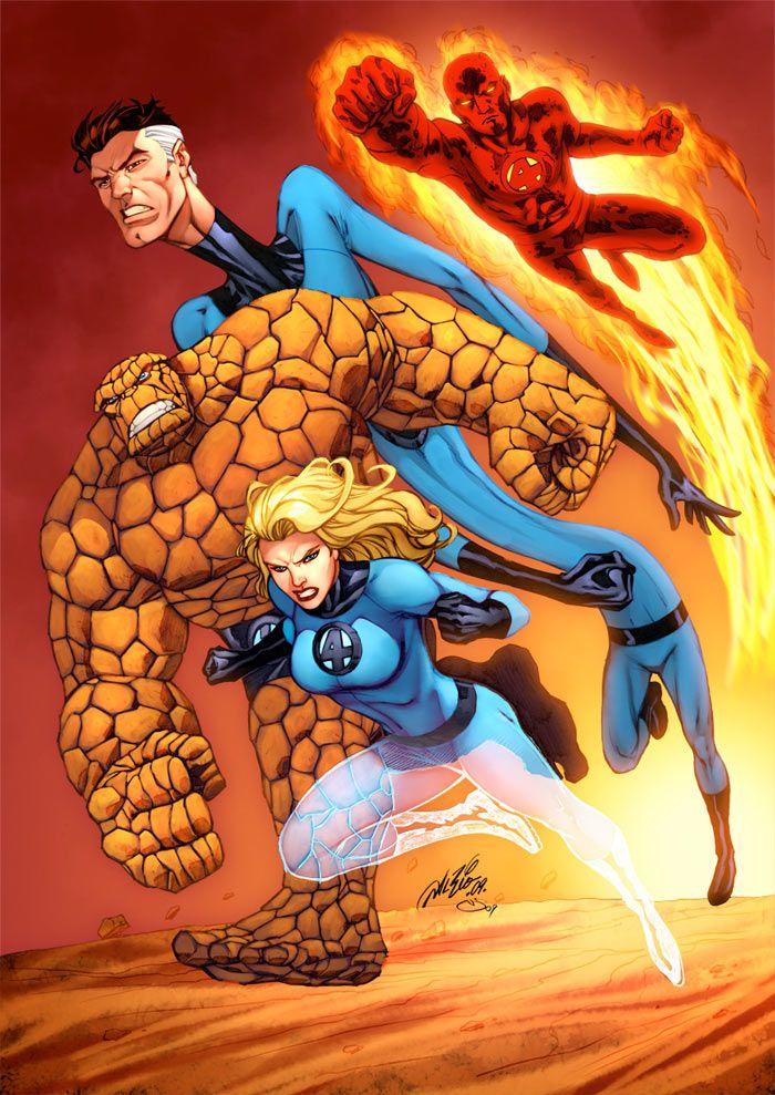 Fantastic 4 Cartoon Characters : Fantastic four color by al rio alrioart on deviantart