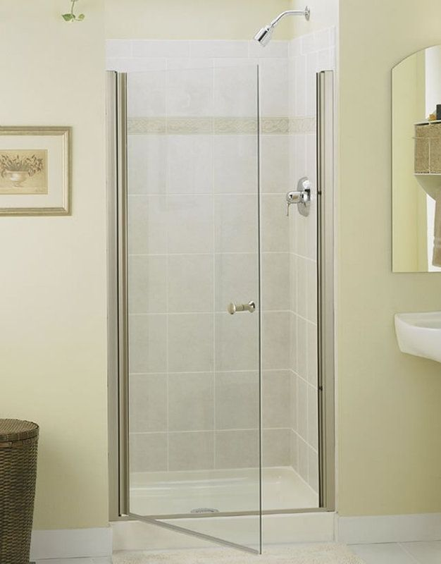 Sterling 6305 39 Frameless Shower Doors Shower Doors Frameless Hinged Shower Door