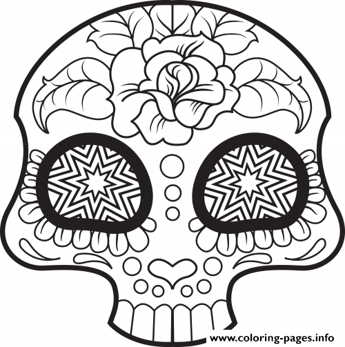 Coloring Pages For Adults Skull : Print mini cute sugar skull coloring pages sugar skull coloring