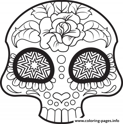 sugar skull coloring pages thaneeya - photo#21