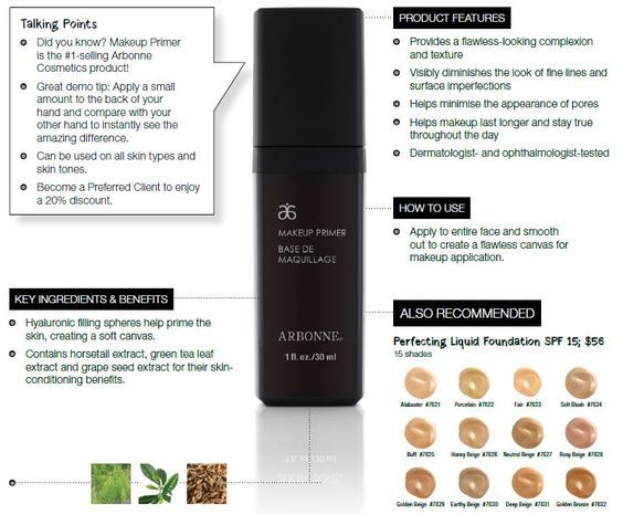Voted In The Top Primers By Totalbeauty Com Discover The Luxurious Arbonne Makeup Primer Is Top Make Up Product In Arbonne Makeup Arbonne Cosmetics Arbonne