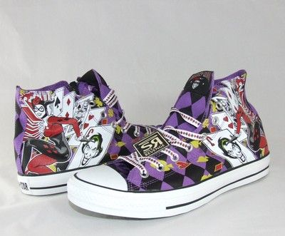 292c43cd9a98 New Converse HARLEY QUINN All Star Chuck Taylor DC Comics Shoes Batman Joker