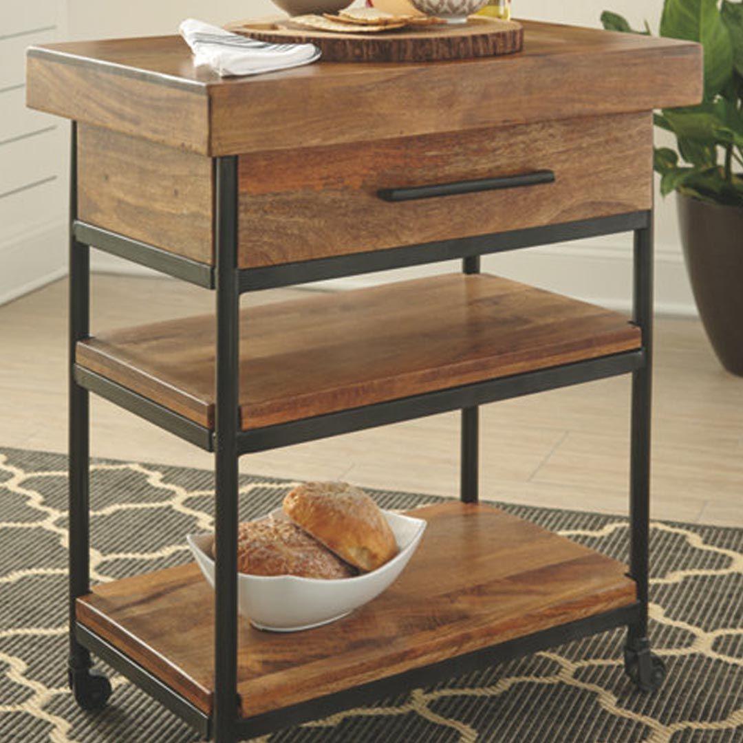 Ashley Furniture Glosco Serving Cart $249 99 | Willows