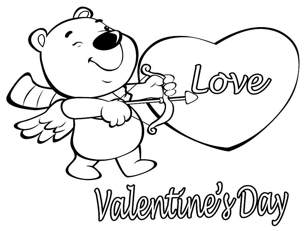 Раскраски с Валентиновым днем для малышей | Раскраски ...
