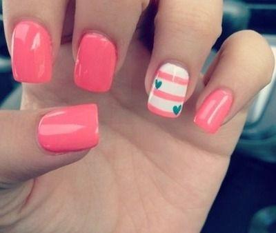 Cute Simple Pink Acrylic Nails Tumblr