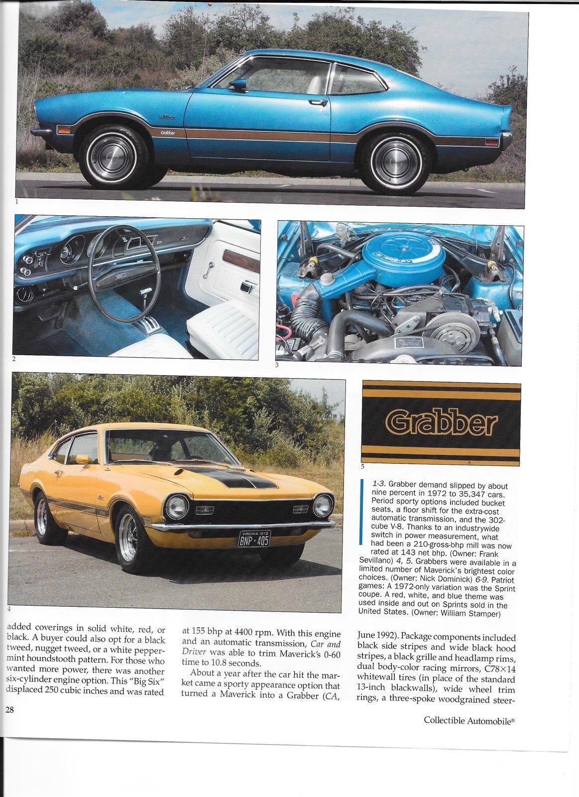 1970 1971 1972 1973 1974 1975 1976 1977 Ford Maverick 12 Pg Color