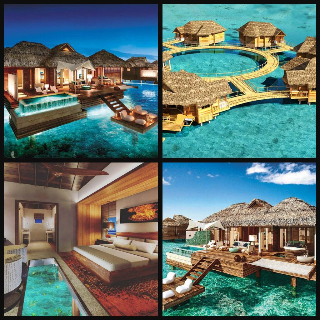 The first overwater bungalow suites are finally here in for Best caribbean honeymoon resorts