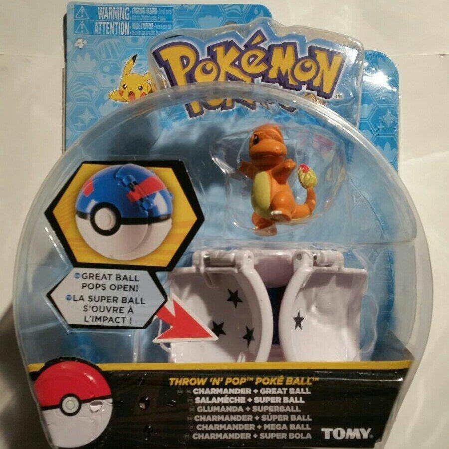 Tomy Pokemon Throw N POP Poke Ball Glumanda Charmander Great Ball Figure Set