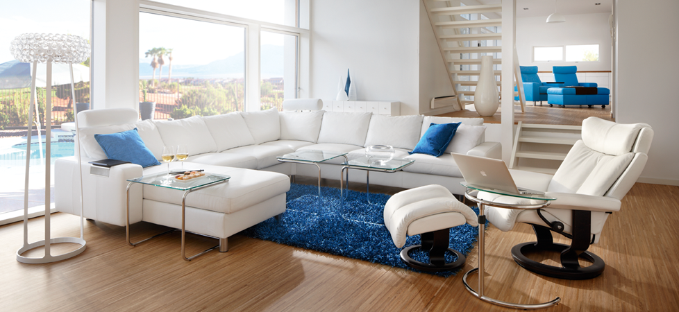 Stressless Magic Shown With Stressless E200 Sectional W Ergo