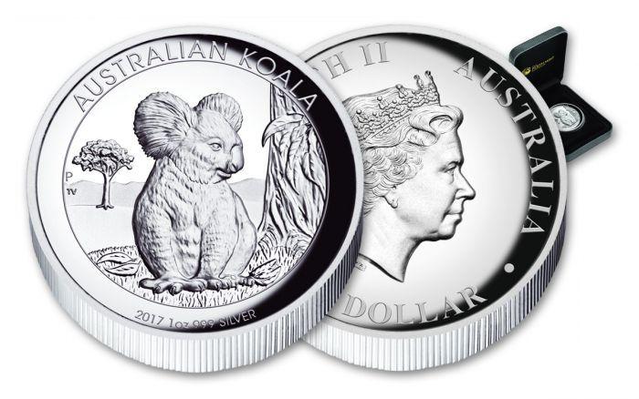 2017 Australia 1 1 Oz Silver Koala High Relief Proof Coin High Relief Proof Coins Koala
