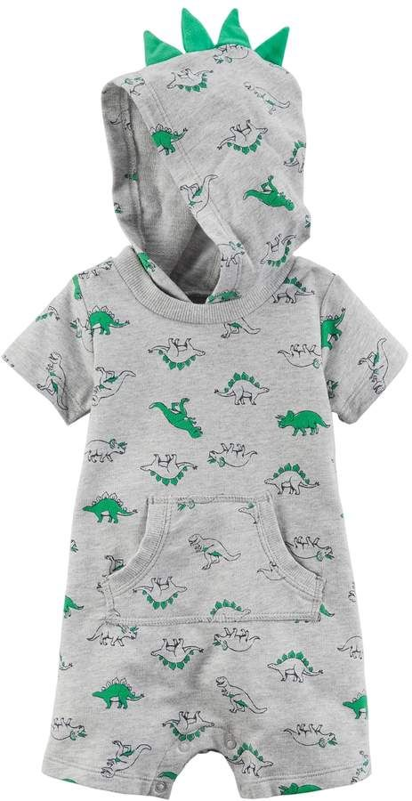 Carter's Baby Boy Dinosaur 3D Spikes Hooded Romper