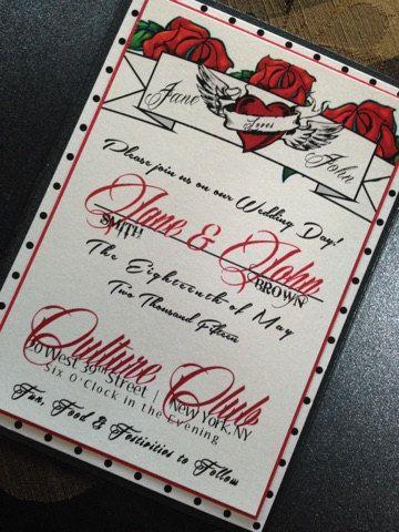 Rockabilly Wedding Invitation Rock And By Magicbeyondmidnight