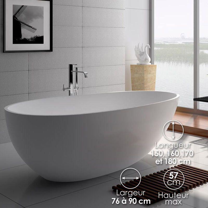 baignoire ilot ovale 150x76 cm a