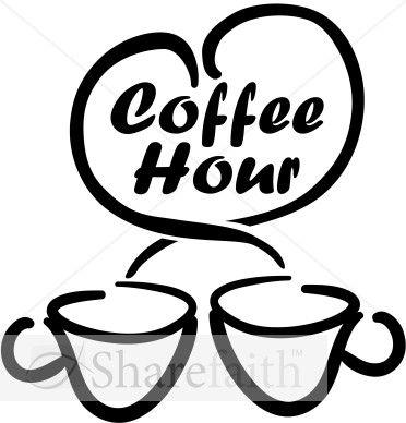 Coffee Hour With Loving Coffee Cups