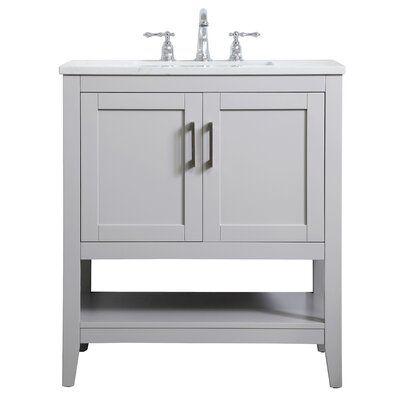 Highland Dunes Gooden 30 Single Bathroom Vanity Set Base Finish Gray Single Bathroom Vanity Bathroom Vanity Bathroom Design