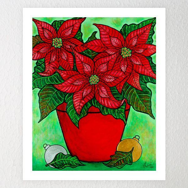 Poinsettia Season Winter Art Lesson Winter Art Projects Christmas Art