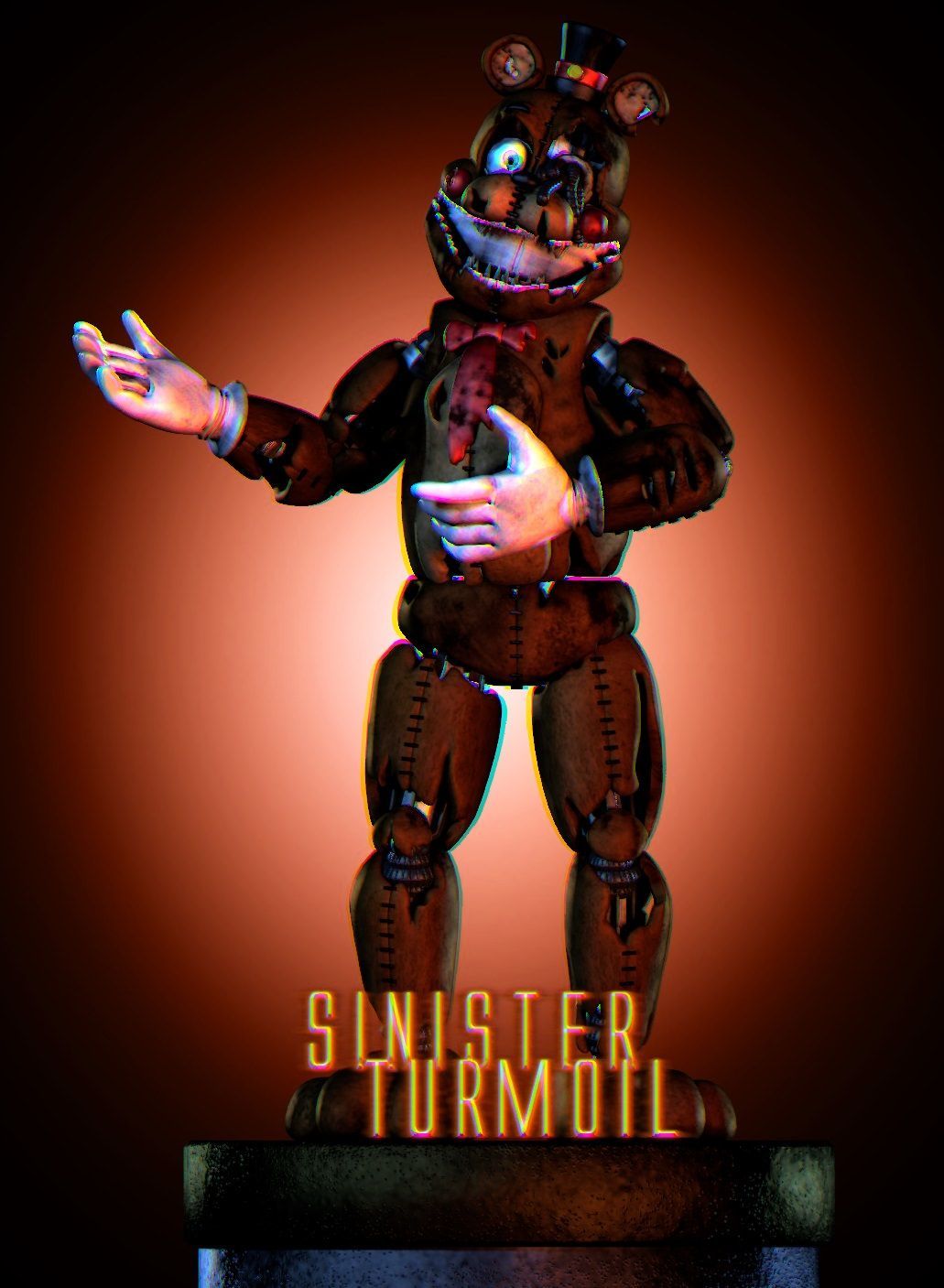 Funhouse Freddy Is A Presumed Antagonist In Sinister Turmoil He Is One Of The Characters At Fredbear And Friends Funland Fnaf Characters Freddy Fnaf Drawings