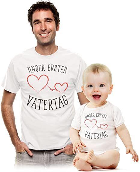 Shirtgeil Unser erster Vatertag – Süßes Geschenk Partner Outfit für Papa und Baby – Judith&Vatertag – cute outfits
