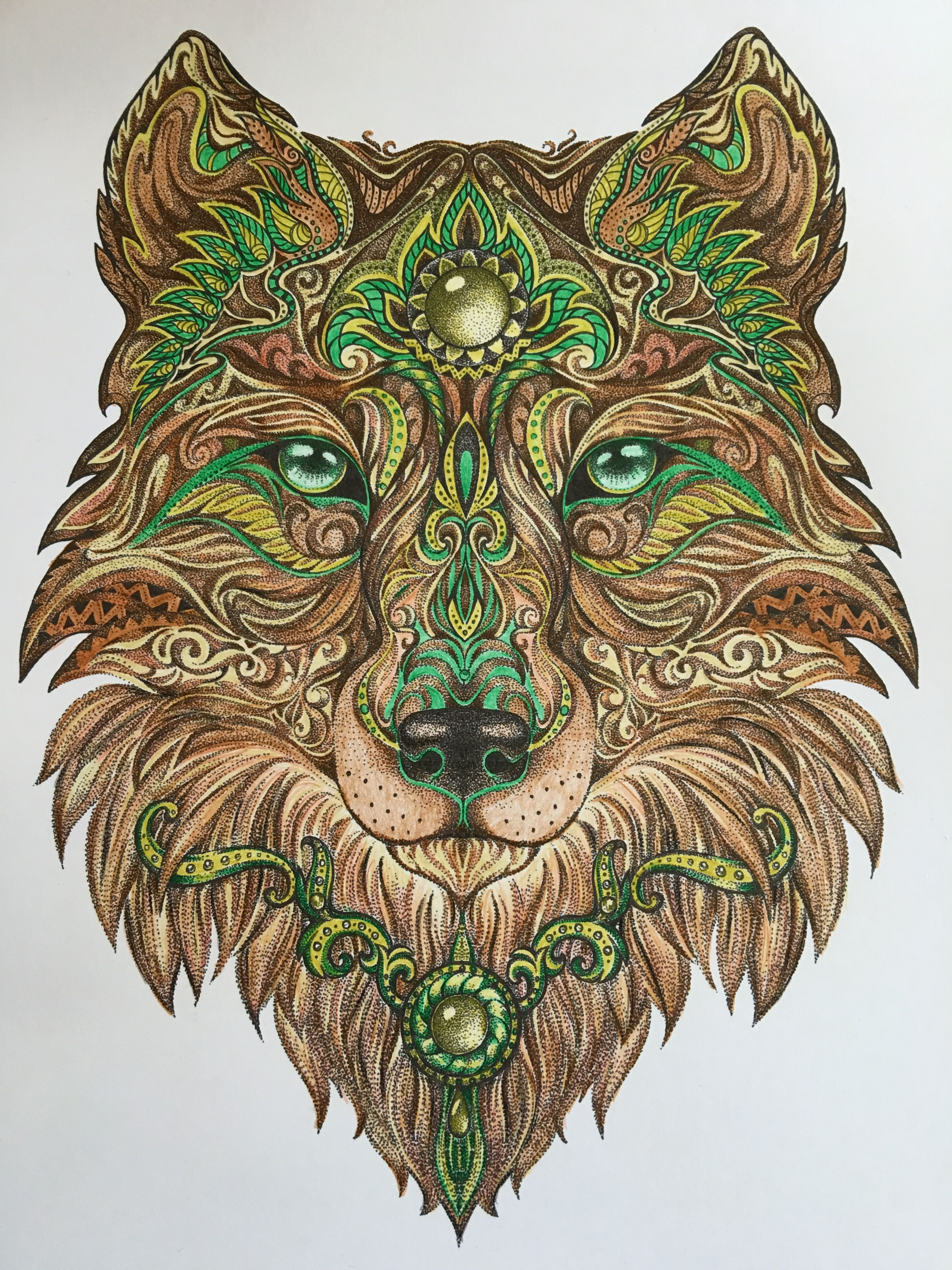 Wolf Painting, Painting & Drawing, Wolf Tattoos, Adult Coloring, Coloring  Books,