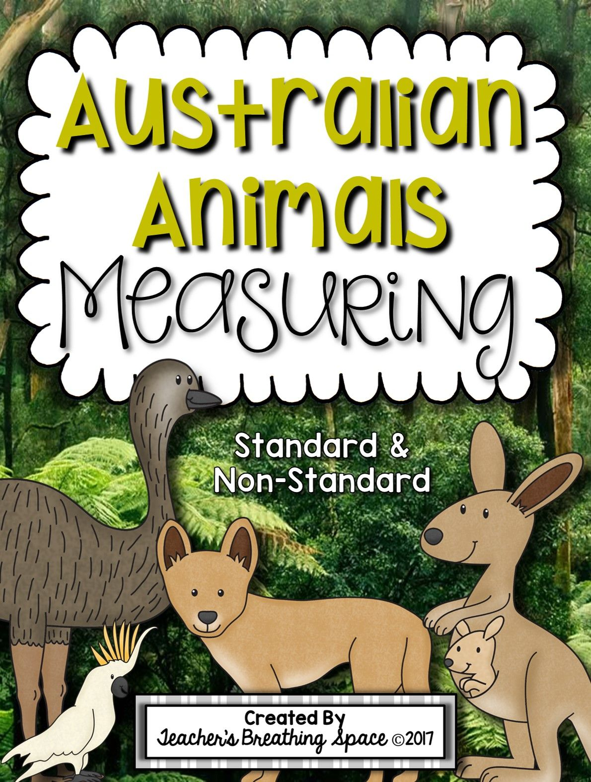 Australian Animals Measuring Book And Measurement Math