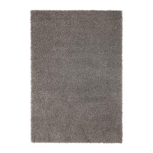 hampen tapis, poils hauts, gris | tapis poil long, ikea et fibre