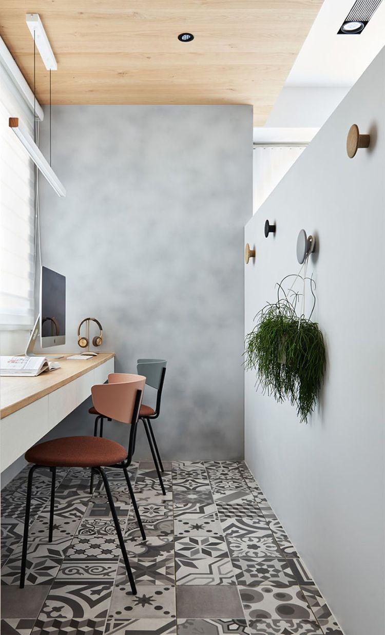 Hervorragend Home Office Einrichten Wenig Platz Fliesen Boden Grau Keramik #interiors  #design