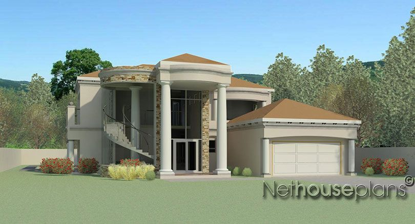 Modern Double Storey 4 Bedroom House Net House Plans South Africa South African House D House Plans South Africa Two Story House Design 4 Bedroom House Plans
