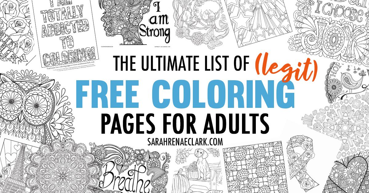 the ultimate list of legit free coloring pages for