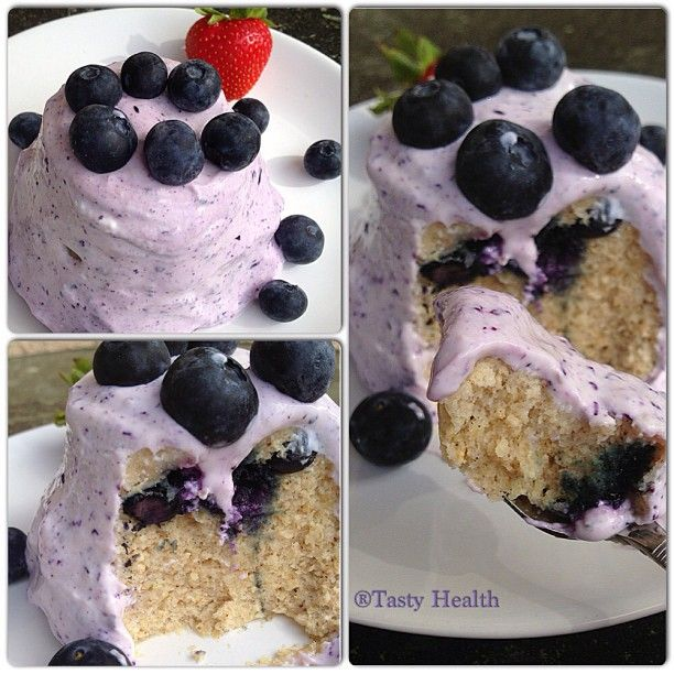 Photo by tastyhealth. Blueberry mug cake. Clean, wheat free, dairy free