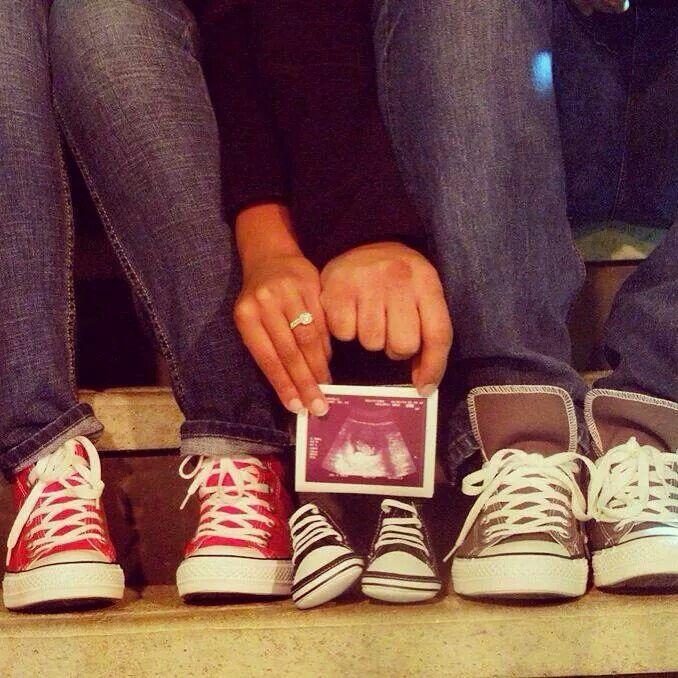 Converse Shoes Pregnancy Announcement
