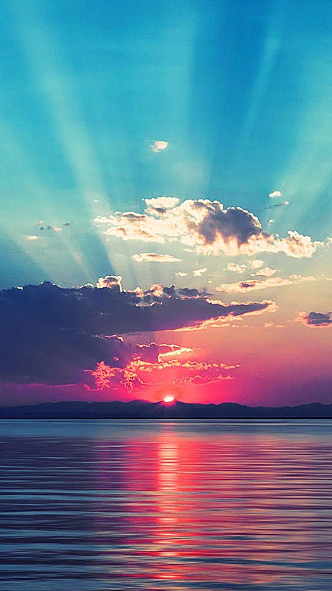 الشمس المحيط السماء الغروب الخلفية Sunset Wallpaper Pretty Wallpapers Ocean Sunset