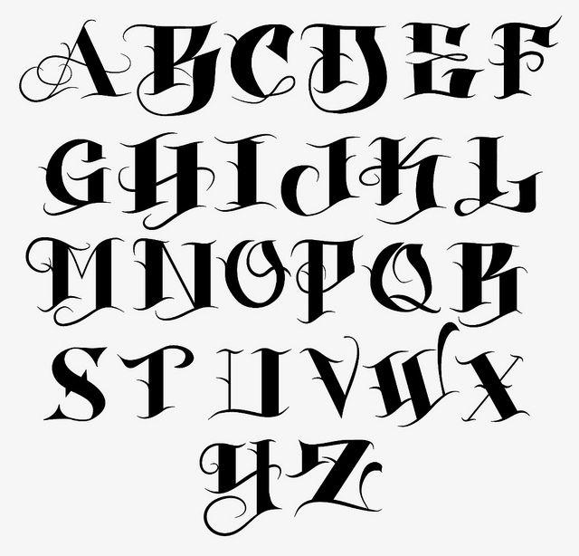 Bj Betts Tattoo Font 34 640x614