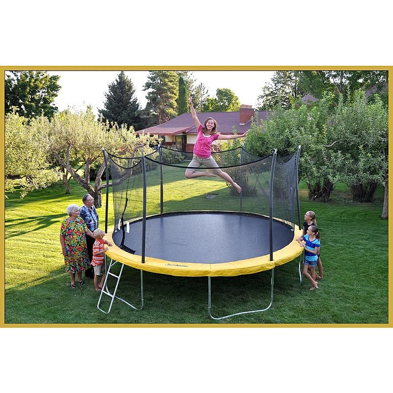 Orbounder 14 Trampoline And Enclosure Combo: Propel Trampolines 15 Ft Trampoline With Enclosure : Sears