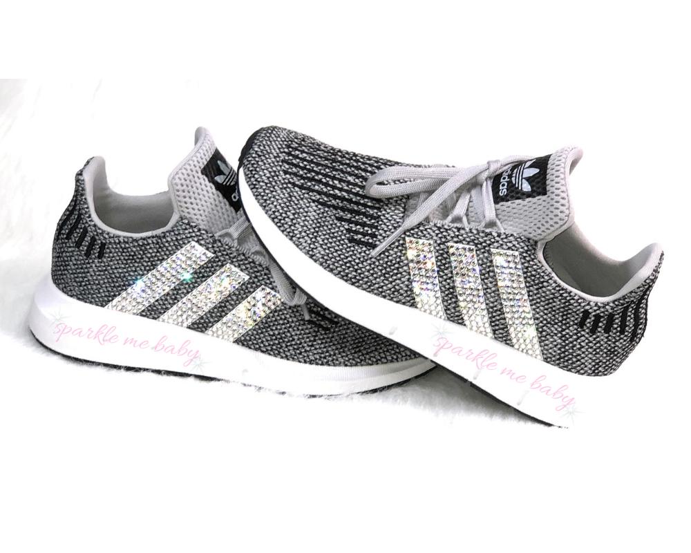 adidas swift run black sparkle