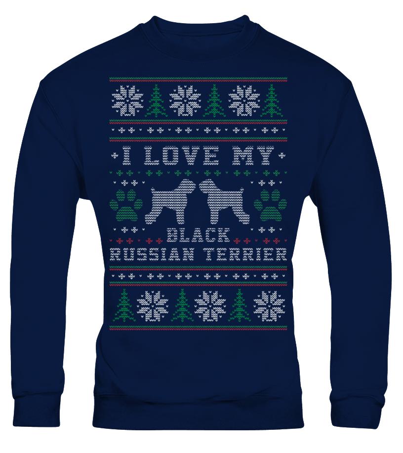 I love my Black Russian Terrier Xmas Sweater xmas sweaters
