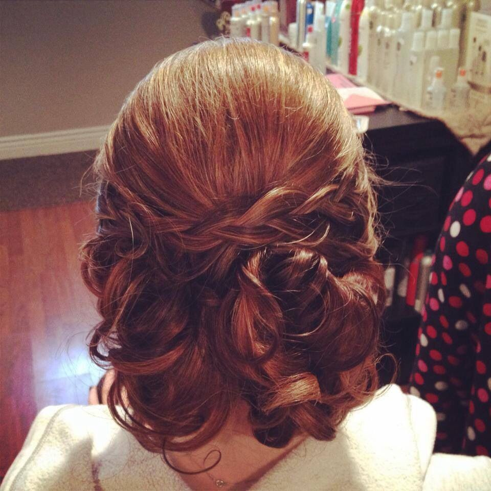 Soft Romantic Updo With Curls And Braids Weddingprom Poet