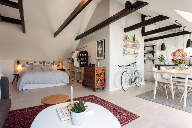 Garsonieră de 46 m² amenajată la mansardă