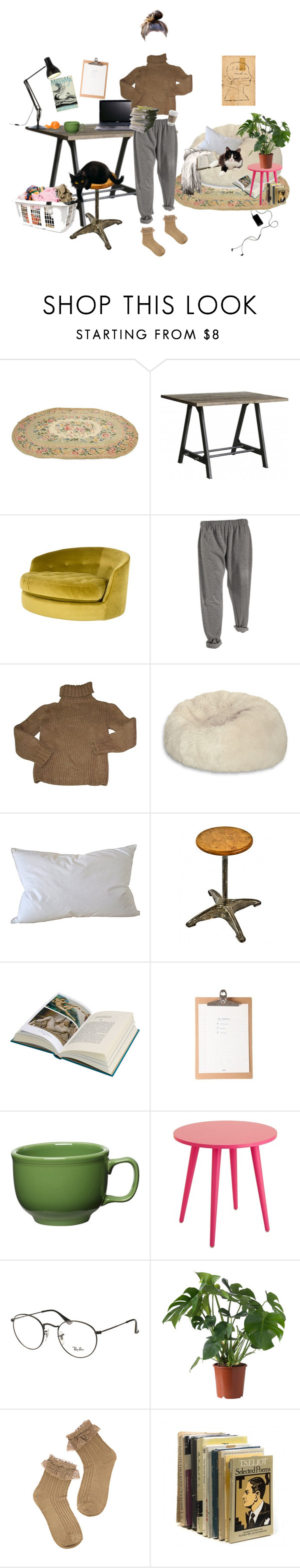 """This semester is killing me"" by ohyou ❤ liked on Polyvore featuring Jayson Home, Acer, Isabel Marant, Pure Rugs, Natural Comfort, American Vintage, Fiesta, Ray-Ban and Anglepoise"