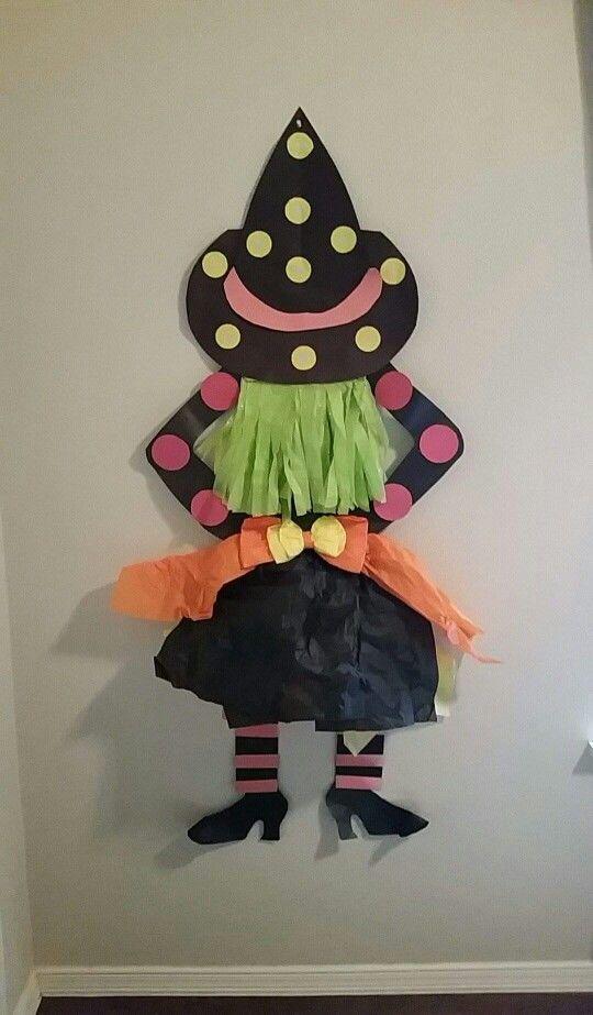 The Halloween decoration for my classroom door..