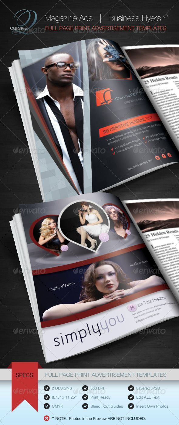 magazine ad business flyer v2 easy to customize magazine ads or