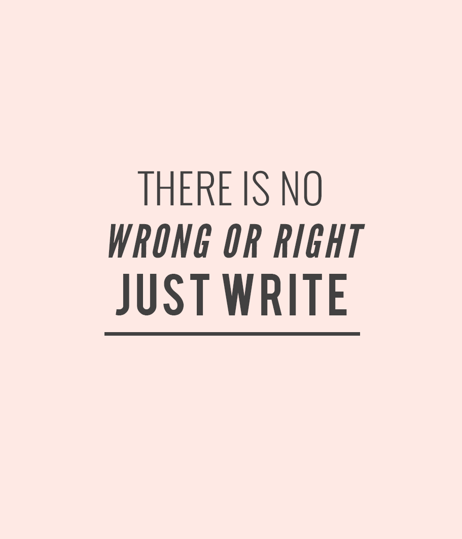 "there is no wrong or right. just write."" - unknown #quotes #writing"