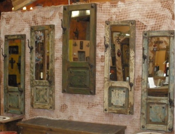 Western Mirrors Cowhide | ... Mirrors Most Of An Antique Door Is Used On