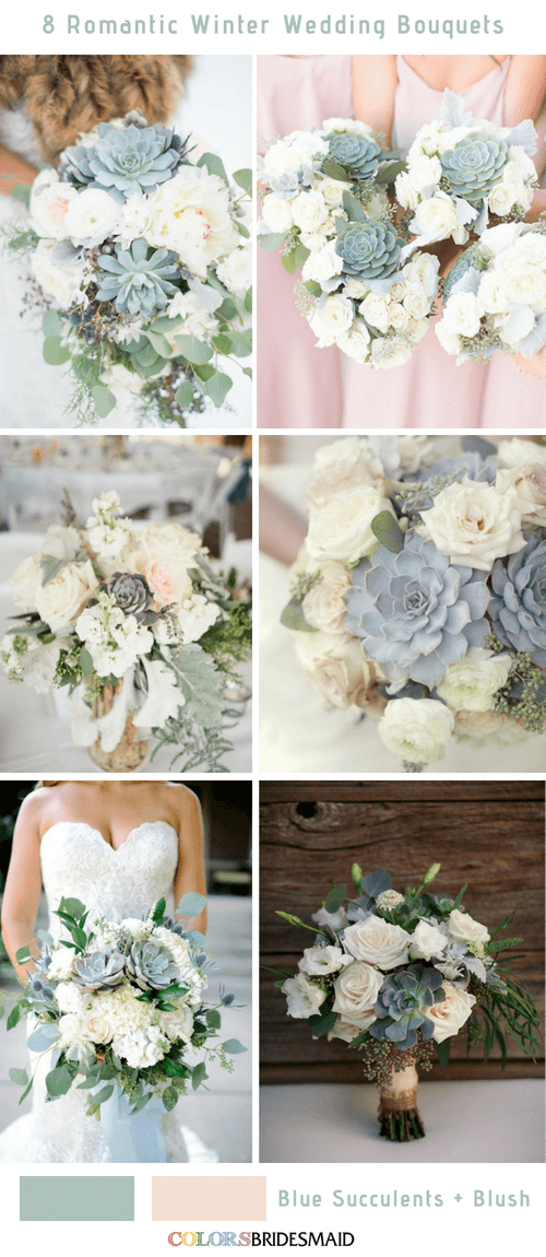 8 Romantic and Gorgeous Winter Wedding Bouquets