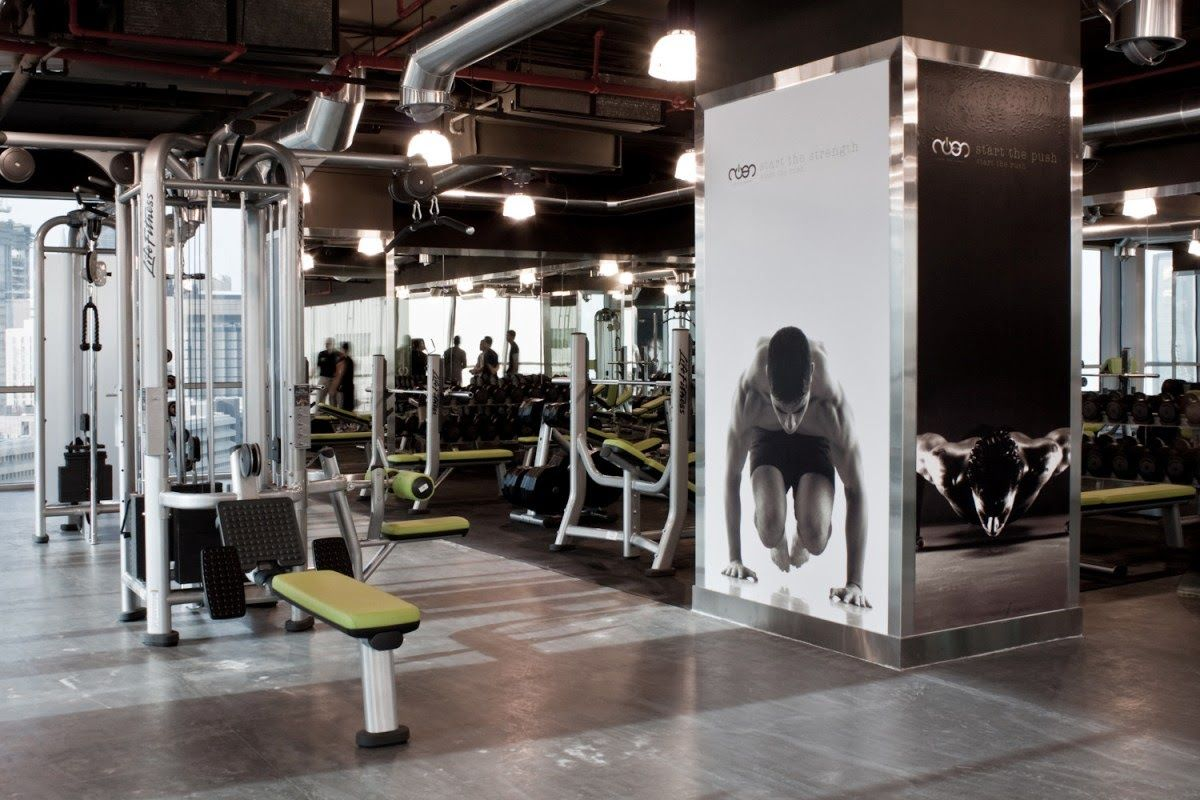 gym interiors | Rush Gym | Dawoud Albader- interior design ...