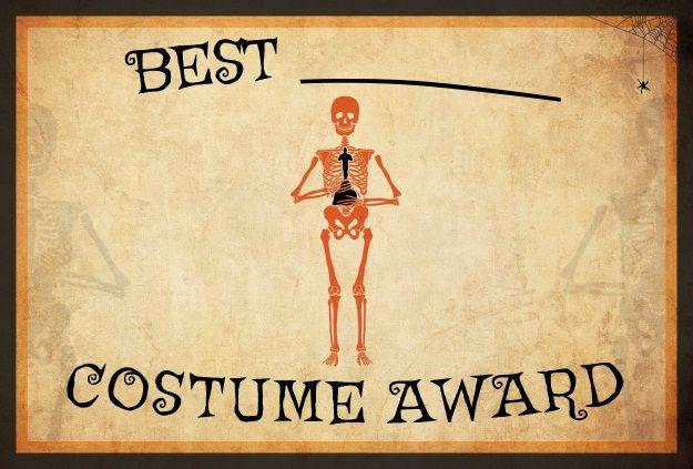 10 free costume award certificates printables halloween printable halloween costume award yadclub Choice Image