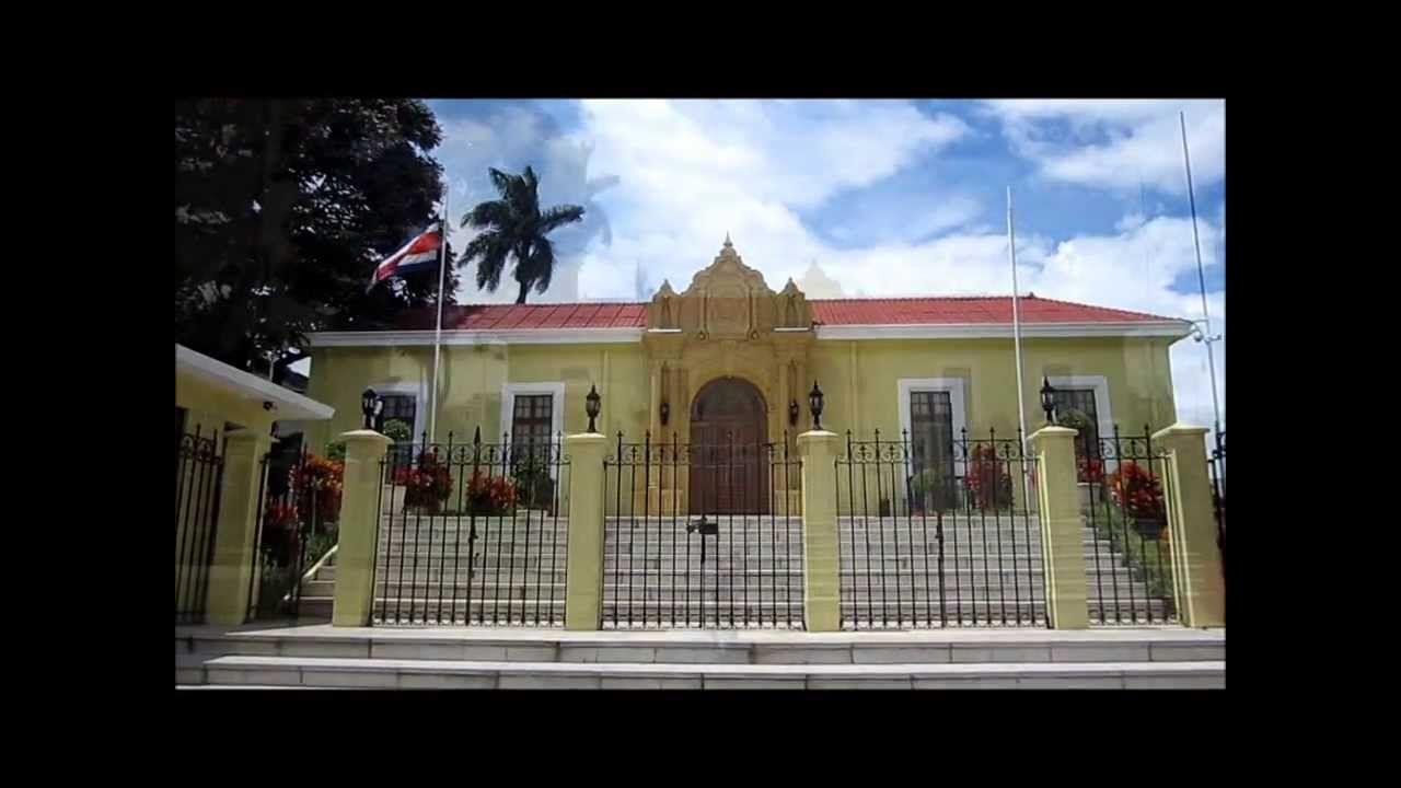 COSTA RICA, VISTA EXTERIOR DE LA CASA AMARILLA EN SAN JOSE